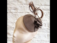 Couture by Beth Hirst Taupe Pheasant Button